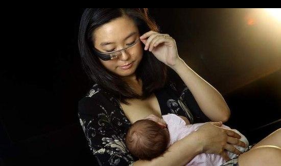 Google Glass biedt ondersteuning bij borstvoeden