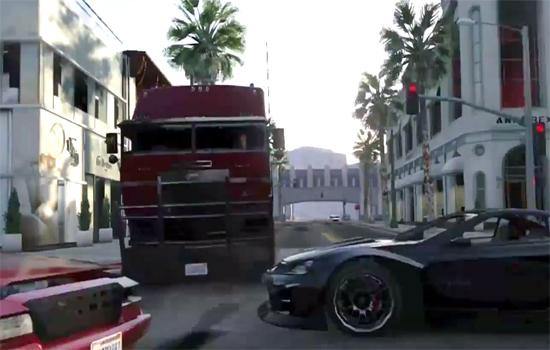 Terminator 2 achtervolgingsscène nagespeeld in GTA V