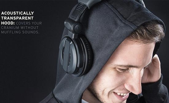 Deze hoodie laat je optimaal van muziek genieten