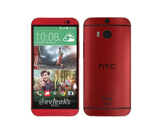 Dit is de HTC One (M8) in het rood