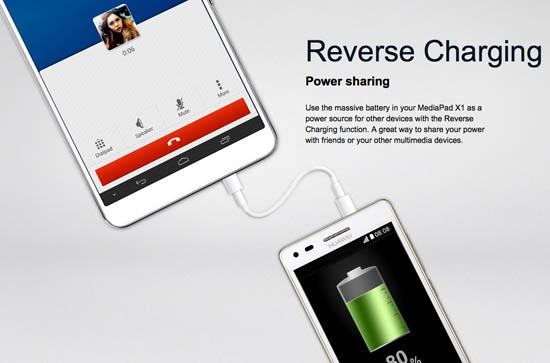 Huawei MediaPad X1 7.0 reverse charging