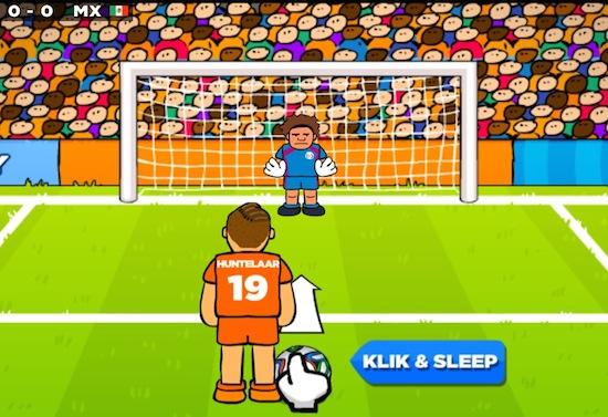Penalty Klaas-Jan Huntelaar vereeuwigd in Android-game