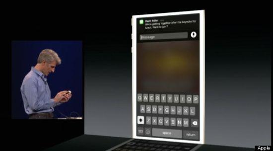 iOS8-berichtenapp
