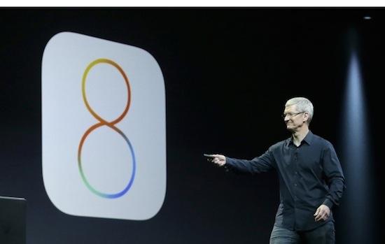 iOS 8 toont apps op basis van je locatie