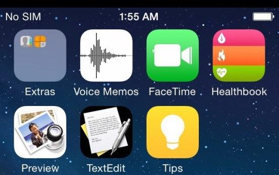 Is dit het eerste beeld van iOS 8?