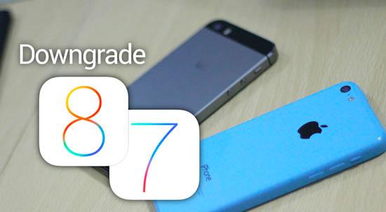iOS 8 to iOS 7 downgrade