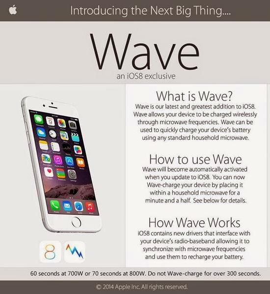 iOS 8 Wave HOAX