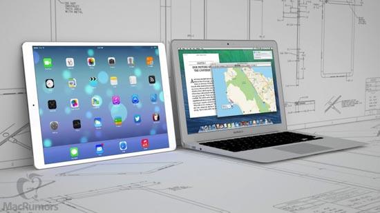 De iPad (Pro?) naast een MacBook Air