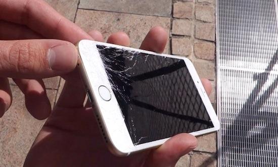 Hoe snel gaat een iPhone 6 stuk als je hem laat vallen?