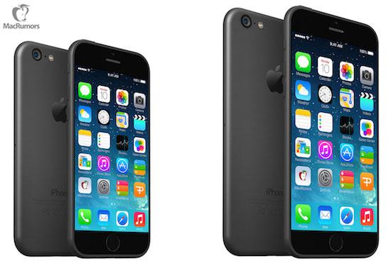 De iPhone 6 op basis van blauwdrukken