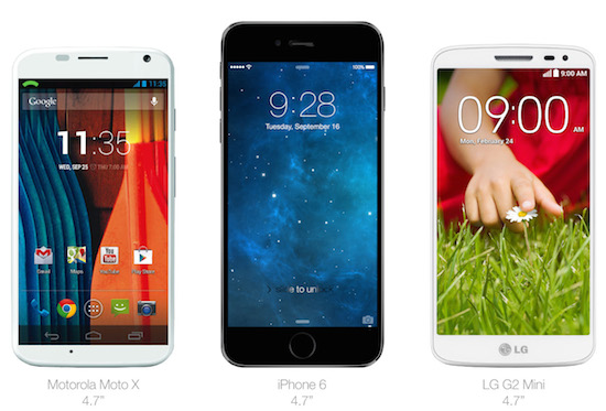iPhone 6 vs Android-telefoons