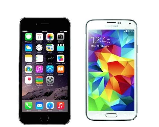 iPhone 6 vs Samsung Galaxy S5 [vergelijking]