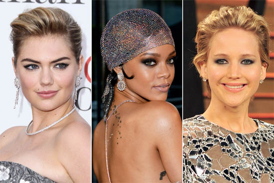 Jennifer Lawrence, Rihanna en Kate Upton