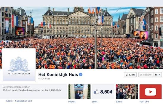 Koninklijk Huis geeft toe aan Facebookverslaving