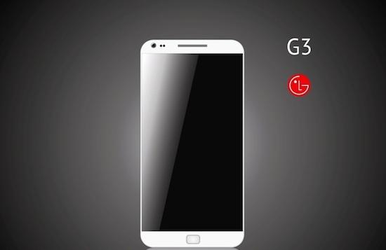 Render van de LG G3