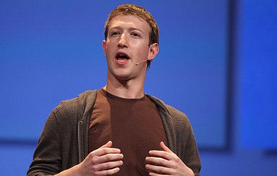 Mark Zuckerberg tijdens zijn f8-keynote