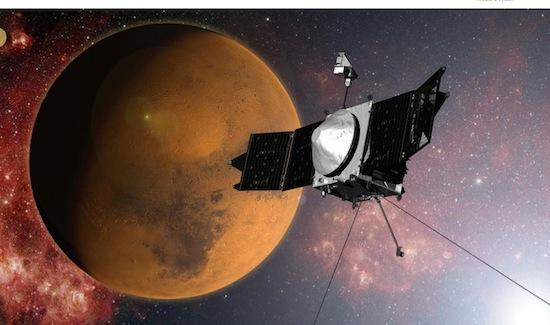 Ruitmesonde Maven eindelijk aangekomen bij Mars