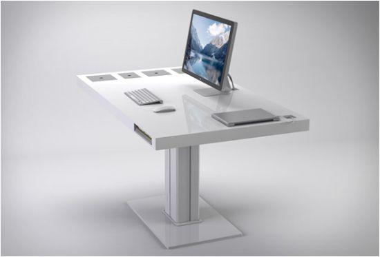 De Milk Desk is een schitterend minimalistisch bureau