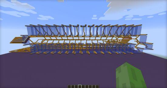 Minecraft spelers bouwen werkende harde schijf