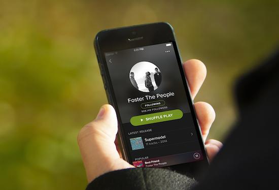 Meest afgespeelde nummers op Spotify