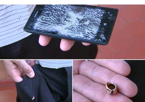 Deze Nokia Lumia 520 heeft een kogel tegengehouden