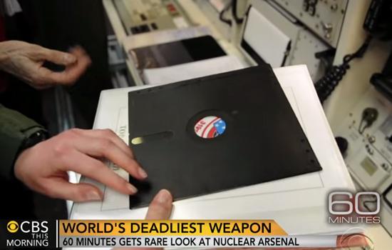 Amerikaanse nucleaire basis werkt nog met floppy disks