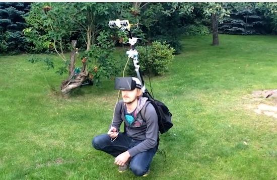 Bekijk jezelf vanuit Third Person View met deze Oculus-rig