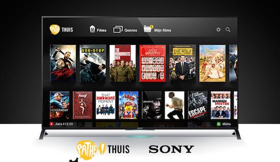Sony brengt Pathé Thuis app naar Bravia-televisies