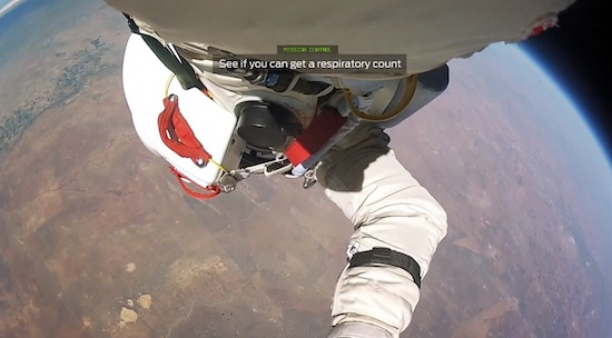 Bekijk Felix Baumgartners ruimtesprong vanuit zijn POV