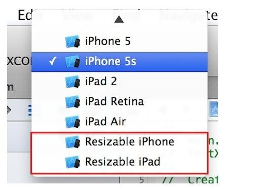 'Resizable iPhone' en 'Resizable iPad'
