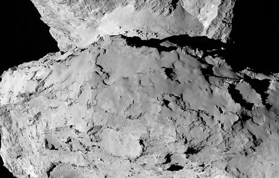 Ruimtesonde Rosetta maakt een close-up na reis van 10 jaar