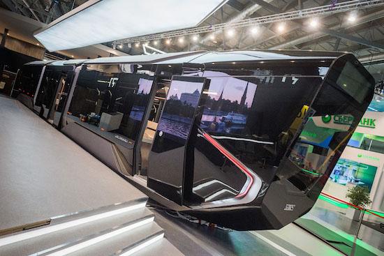Russische tram van de toekomst komt uit een sci-fi film