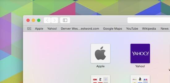 Safari bookmark aanpassen