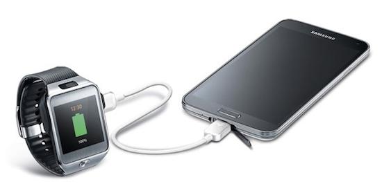 Met deze kabel van Samsung kun je je smartwatch opladen
