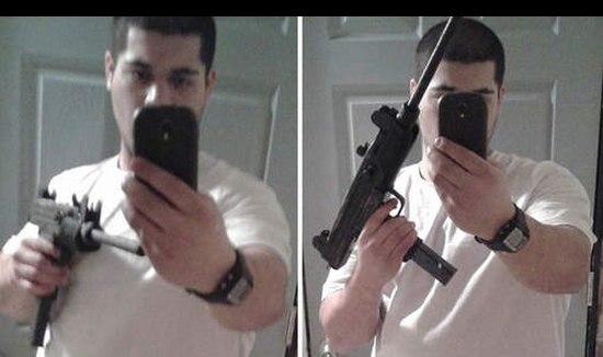 Bankovervaller plaats selfie met zijn wapen op Facebook