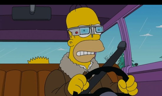 Video: de Google Glass volgens Homer Simpson