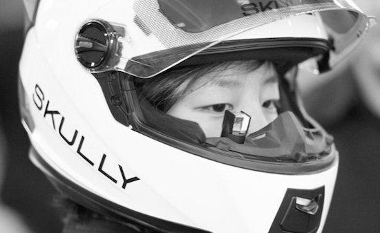 Aprilia laat op je helmvizier zien hoe hard je rijdt