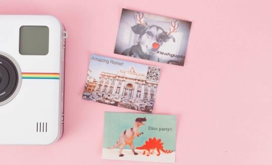 Deze Polaroid camera print je foto en zet 'm op Instagram
