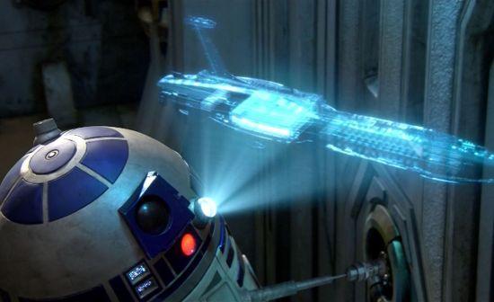Starwars R2-D2 3D hologramprojectie