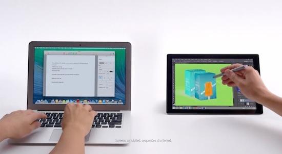 Microsoft valt Apple aan in nieuwe Surface Pro-reclame