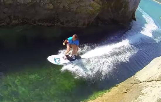 Met de surfplank van Aquila heb je geen wind meer nodig