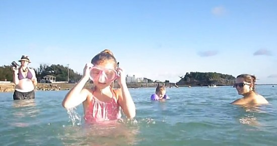 Swimming girl..