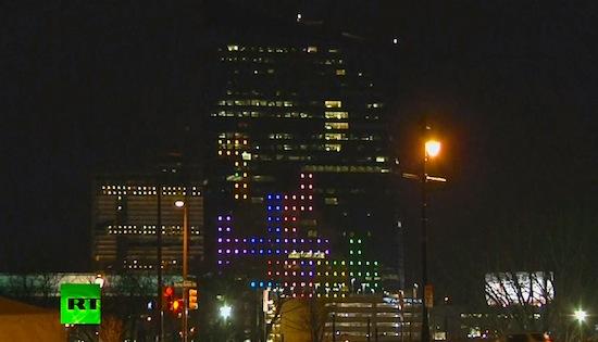 Dit is het grootste potje Tetris ter wereld