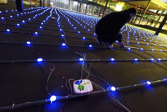 Nederlandse studenten bouwen grootste Tetris-spel ooit