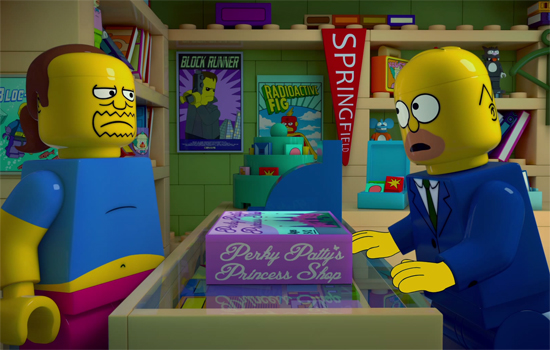 de trailer van de LEGO Simpsons aflevering is hier