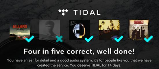 Test je audiokennis met Tidal