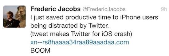 Met deze Tweet kun je Twitter laten crashen