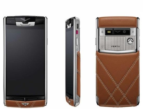 Vertu en Bentley maken superdure telefoon van €12.500