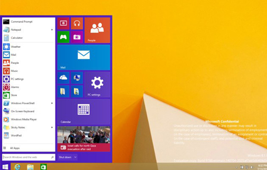 Wordt dit het nieuwe startmenu in Windows 8.1?