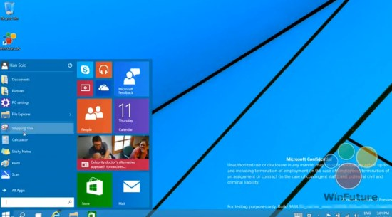 Windows 9 Startmenu